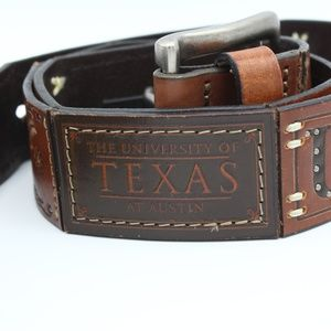 Fossil University of Texas Leather Belt (Womens)